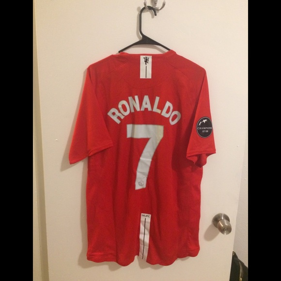 4baa29c7c NWT C Ronaldo MUFC 07 08 Jersey XL Patch Defect